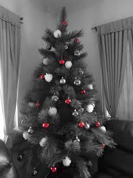 Grey Christmas Tree Christmas Tree Red White And Grey Themed Christmas
