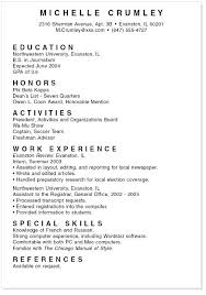College Student Resume Templates Stunning Sample High School Student Resume For Summer Internship Example Of