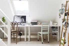 white ikea linnmon adils table setup for home office