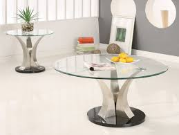 image of photos of round glass coffee table