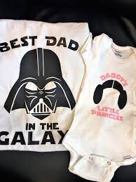 Daddy Daughter Star Wars Best Dad In The Galaxy Tee and | Etsy in 2021 |  Daddy daughter, Dad baby, Dad to be shirts