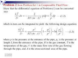 problem 2 from problem set 1 in compressible fluid flow