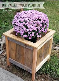 wooden crate planters wood pallet planter box