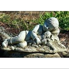 outdoor garden statues. Angel Outdoor Statues Get Quotations A Pack Of 2 Sleeping Boy And Dog Garden . N