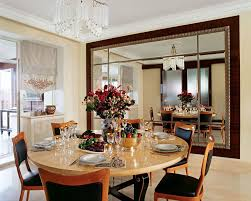 glamorous dining room with art deco interior design also cool round dining table lso black modern dining chairs design color also gorgeous chandelier also