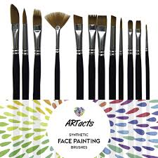 artacts art paint brush set for watercolor acrylics oil face painting