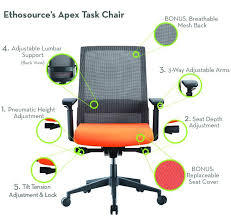 office chair with adjule back office chair seat height 23