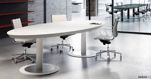 ceo white leather oval meeting table