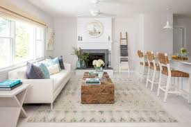 beach style living room by north fork design co