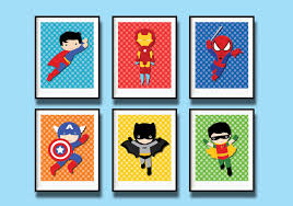superhero wall decalssuper hero art new decals nursery posters printables boys digital printable instant home