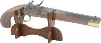 Handgun Display Stand Wooden Pistol Display Rack Holder Handgun Colonial Antique Stand 86