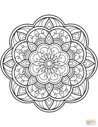 Blomster Mandala Tegninger Kleurplaten Mandala Coloring Pages