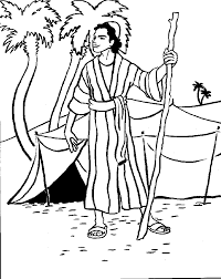 Simple Joseph And His Coat Of Many Colors Coloring Page Pipevine