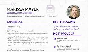 make your content look as good as this cv from yahoo s ceo