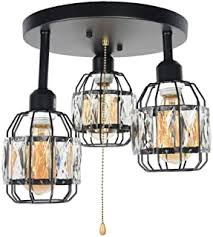 Close To Ceiling Light Fixtures - Crystal / Close To ... - Amazon.com