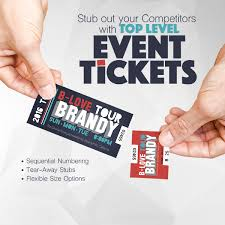 Raffle Event Raffle Event Tickets Color Service Printing Graphics