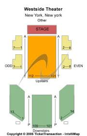 Westside Theatre Seating Chart Westside Theatre Upstairs Tickets And Westside Theatre