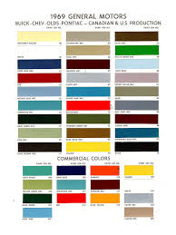 69 Camaro Color Chart 1969 Chevrolet Camaro Paint Color Card Paint Code 1969