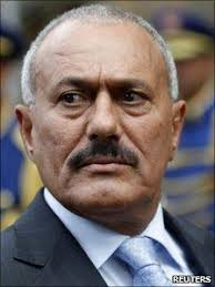 Veteran dictator Ali Abdullah Saleh, 64, has been the focus of recent protests - _51061261_51000192