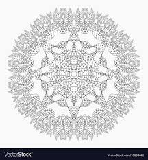 Mandala Antistress Coloring Pages Royalty Free Vector Image