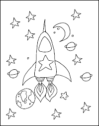 Small Picture Space Rocket Free Coloring Pages for Kids Printable Colouring Sheets