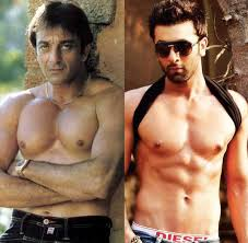 Image result for new pics of ranbir kapoor for sanjay dutt's biopic