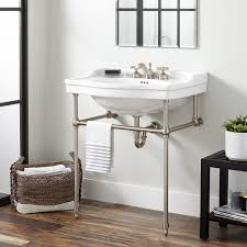 interior console sinks for small bathrooms elegant sink with metal legs finest design bathroom throughout