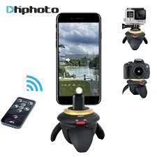 Elektrische Panorama Pan Stativ Kopf 360 grad Motorisierte Zeitraffer  Rotator Selfie Stick für Smartphone Gopro SJCAM Action Kamera|Stativköpfe