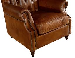 style high backed winged leather chairs brown armchair intended for inspirations 19