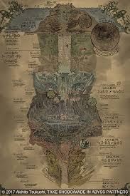 Made In Abyss Chart Image Result For Made In Abyss Map Map Fantasy Map