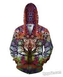 Hoodies Designed By Artists Trip Tree Zip Up Hoodie Top Sellers Hoodies