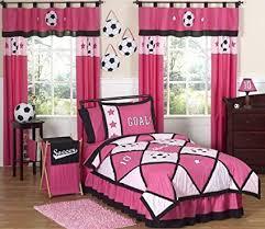 Bedroom designs for girls soccer Themed Bedroom Image Unavailable Amazoncom Amazoncom Sweet Jojo Designs 3piece Girls Soccer Childrens