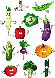 stock vector of healthful organic fresh cartoon tomato eggplant bell pepper green