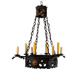 1920 s 8 light french wrought iron gothic tudor chandelier
