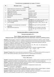 класс Контрольная работа № Теория ЭД i вариант  Тематическое планирование по химии в 9 классе № Название
