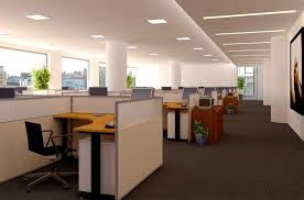 adorable office decorating ideas shape. Adorable Home Office Decoration With Rectangular Shaped Hidden Ceiling Lights And White Wall Paint Color Using Decorating Ideas Shape