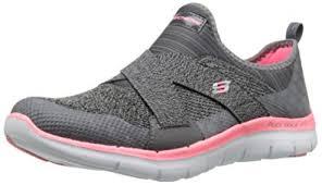 skechers new shoes. skechers women\u0027s sport flex appeal 2.0 new image fashion sneaker, charcoal/coral, 5 shoes