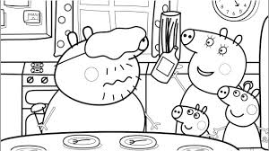 Small Picture Food Coloring Pages with Daddy Pig Peppa Pig Coloring Book Pages