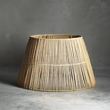 lighting appealing woven lamp shade diy rattan wicker shades ball light drum bamboo extra large