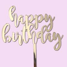 Cursive Happy Birthday Cake Topper For Birthday Cakes South Africa