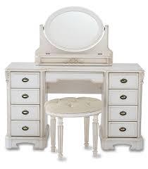Makeup Vanity Desk Bedroom Furniture White Makeup Vanity Table Set W Bench Globorank