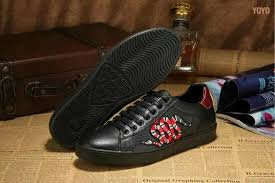gucci shoes black snake. gucci leather shoes man trainers black snake