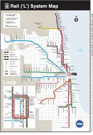 chicago l train map  maps of usa