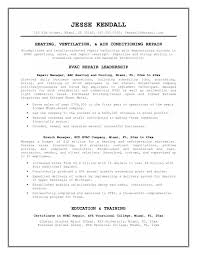 Hvac Installer Resume Reference Hvac Resume Example For Free Hvac