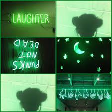 Light Green Aesthetic Green Shadow Lights Moon Stars Aesthetic