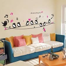 diy wall decor for bedroom. Buy 1 Get Minion Birds Singing Music DIY Wall Decor Stickers Animals Poster Decorations Diy For Bedroom