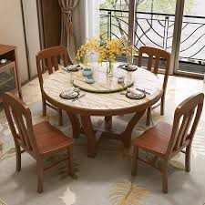 chinese style dining table folding table new chinese solid wood dining table and chair combination european retractable dining table walnut color dining