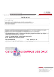 document invoice freight invoice sample document for ectn bsc feri besc certificates