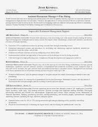 Restaurant Assistant Manager Resume Sample Dockery Michellecom