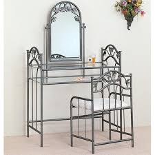 glass vanity set popular silver with stool steal a sofa furniture for 12